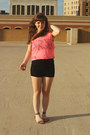 Black-love-culture-shorts-hot-pink-victorias-secret-top