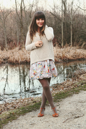 off white RD style sweater - heather gray modcloth dress