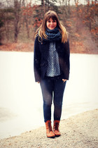 blue J Brand jeans - tawny Duo boots - navy modcloth blazer