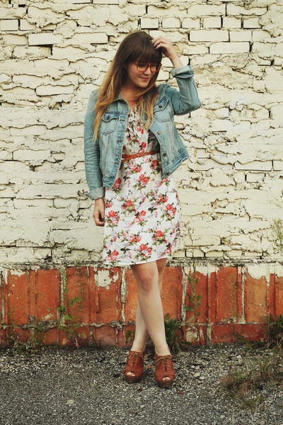 Onze Boutique dress - Forever21 jacket - Seychelles wedges - BonLook glasses
