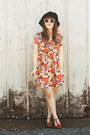 Orange-modcloth-dress-black-moorea-seal-hat-off-white-zerouv-sunglasses