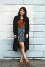 Navy-ruche-cardigan-navy-thrifted-skirt-tawny-urban-outfitters-heels