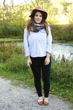 camel Moorea Seal hat - black Aeropostale jeans - camel modcloth scarf