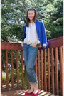 Joe-fresh-jeans-zara-blazer-joe-fresh-blouse-aldo-flats-relic-watch