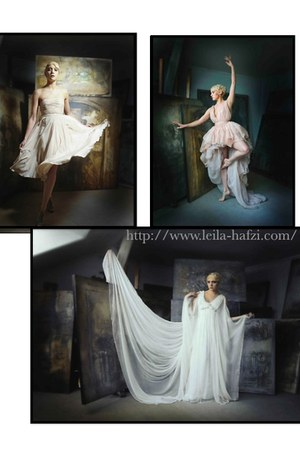 silk chiffon Leila Hafzi dress