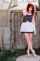 Forever 21 dress - floral print skirt - heels