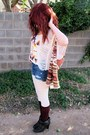 Tribal-shirt-ankle-boots-shorts-forever-21-cape