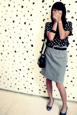 blouse - skirt - shoes - belt