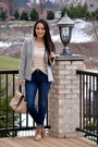 Navy-skinny-aeropostale-jeans-heather-gray-fitted-h-m-blazer