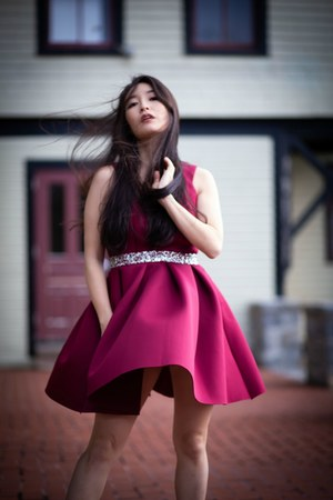 ruby red asos dress