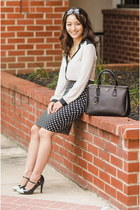 black Forever 21 skirt - black Prada bag