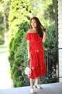 Red-stitch-fix-dress-bubble-gum-capri-designs-bag