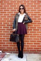 crimson skater skirt The Girl That Loves skirt - black cut out ankle deb boots