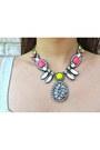 White-crossbody-lucymint-bag-yellow-neon-statement-accessory-mercado-necklace