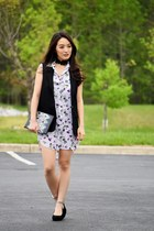 light purple floral tunic Equipment top - black Happy Rebel Box bag