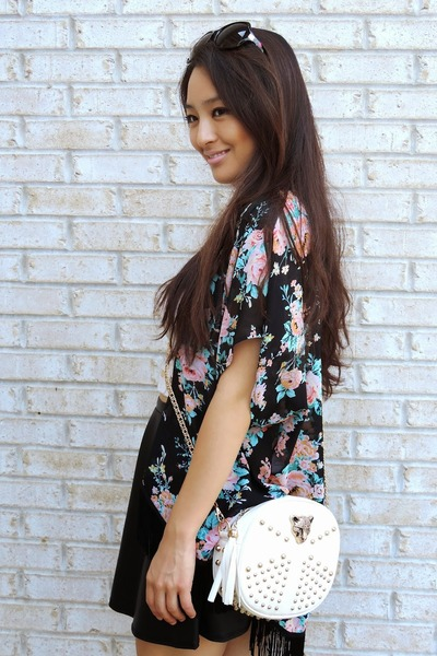black fringe kimono Charlotte Russe cardigan
