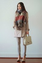 camel trench Burberry coat - camel plaid Scarves Dot Net scarf