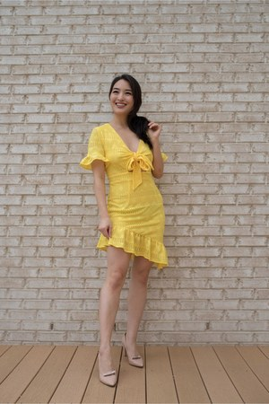 yellow Bella & Bloom Boutique dress