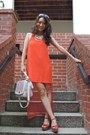 Carrot-orange-mudd-shoes-carrot-orange-line-dot-dress
