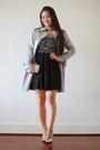 Black-glitter-a-line-deb-dress-silver-sparkly-clutch-lily-rain-bag