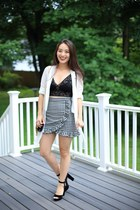 3756bada70b black lace hanky panky top - black checkered Chicwish skirt