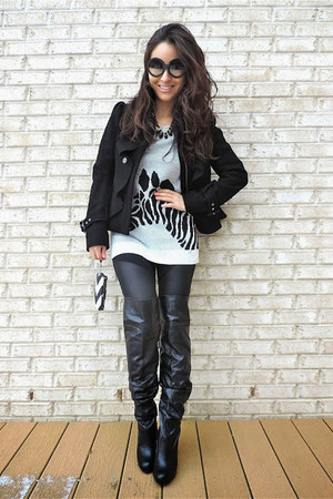 black beaded collar Charlotte Russe necklace - black deb boots