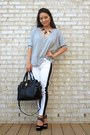 White-skinny-rock-republic-jeans-black-badgley-mischka-bag