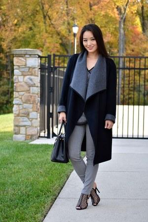 black reversible wool Lafayette 148 New York coat