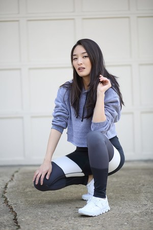 silver Holabird Sports leggings - charcoal gray Holabird Sports top
