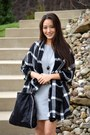 Heather-gray-banana-republic-dress-black-checkered-old-navy-scarf