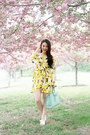 Yellow-asos-dress-white-nine-west-sandals