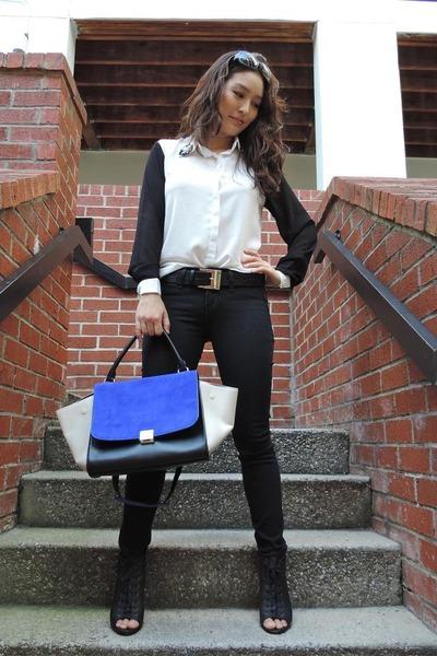 black black skinny vince jeans - the quiet riot bag