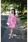 Hot-pink-floral-mini-red-dress-boutique-dress
