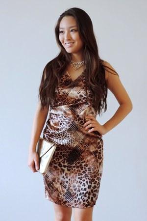 gold snakeskin Shake FX dress - gold Winky Designs bag - gold metallic deb heels
