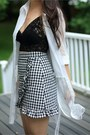 Black-lace-hanky-panky-top-black-checkered-chicwish-skirt