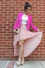 Hot-pink-reese-riley-blazer-light-pink-kate-spade-bag