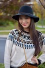 Black-wool-madden-girl-hat-black-crossbody-ysl-bag