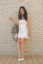 white pointed bcbg max azria shoes - white Lynn  Lace dress