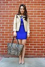 Deep-purple-charlotte-russe-dress-beige-charlotte-russe-jacket