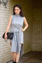 heather gray asos dress - black Bag Inc bag