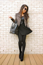 black tights deb tights - brown Charlotte Russe jacket