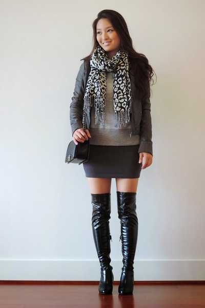 Black Boy Chanel Bags, Black Over The Knee Chinese Laundry Boots ...