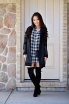 black thigh-high stuart weitzman boots - black Donna Degnan jacket