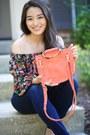 Navy-stitchfix-jeans-orange-satchel-violet-ray-bag