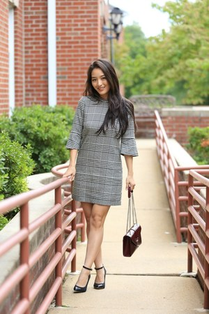 charcoal gray H&M dress - black BCBGeneration heels