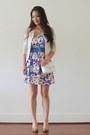 Periwinkle-floral-skater-trixxi-dress-beige-crochet-jyjz-cardigan