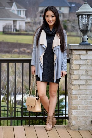 heather gray drape saks cardigan - gray Old Navy dress