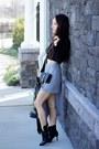 Black-custom-made-two-perfect-souls-boots-heather-gray-asymmetrical-zara-skirt