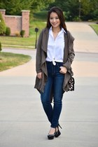 light brown tencel Aeropostale jacket - navy Aeropostale jeans