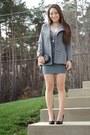 Heather-gray-plunge-deb-dress-heather-gray-fashion-frenzzie-blazer